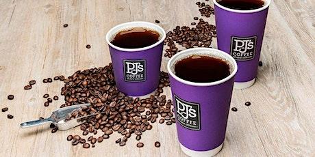 Free 12 oz Coffee at PJ's Coffee Jackson Grand Opening tickets