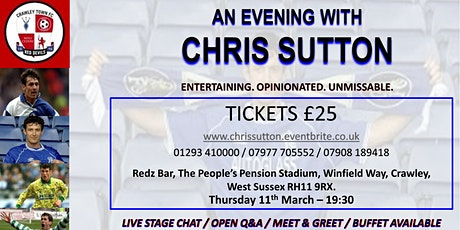 CHRIS SUTTON - An Evening With tickets