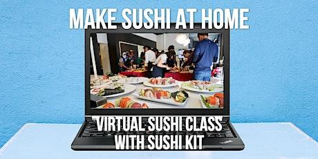 Virtual Sushi Making Class with Sushi Kit - Make sushi at home tickets
