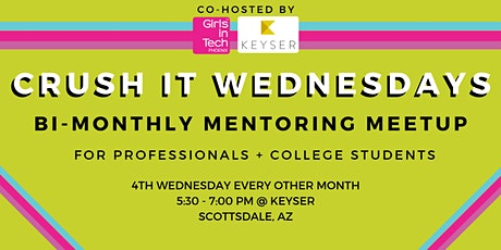 Girls in Tech Phoenix Bi-Monthly VIRTUAL Mentoring Meetup tickets