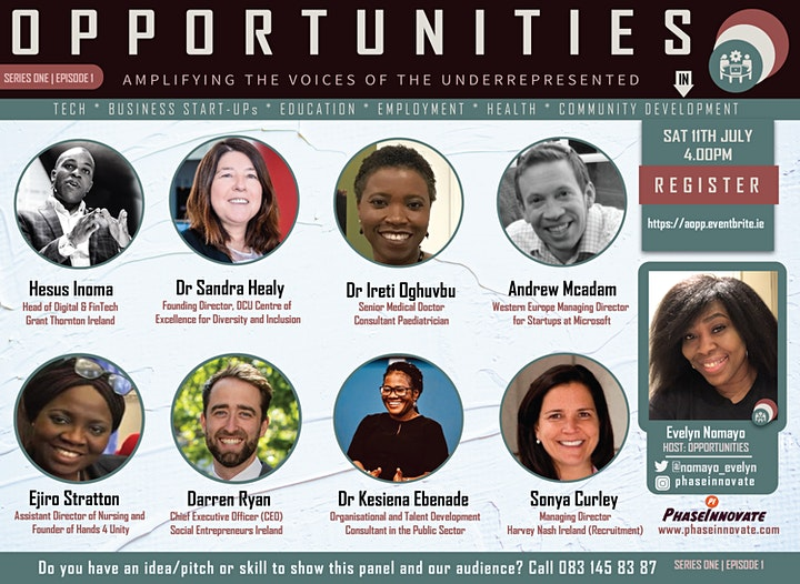 AMPLIFYING THE VOICES OF THE UNDERREPRESENTED IN TECH,START-UPS & COMMUNITY image