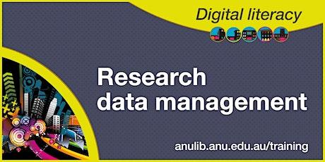 Research data management webinar tickets