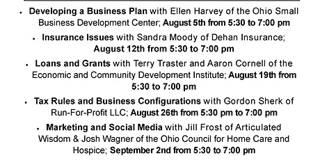Start Your Own Business Workshops:  Developing a Business Plan (on Zoom) tickets
