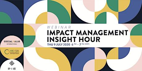 Webinar: Impact Management Insight Hour tickets