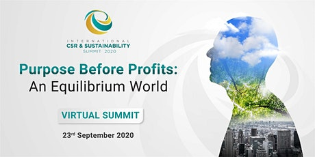 (Virtual) 6th International CSR & Sustainability (ICS) Summit 2020 tickets