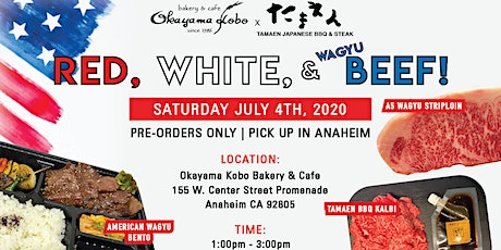Red, White, and BEEF! Authentic Wagyu experience in Anaheim (Pickup only) tickets