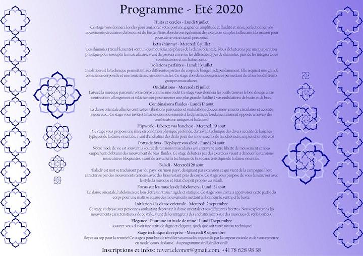 Image pour Danse orientale - Stages d'été 2020