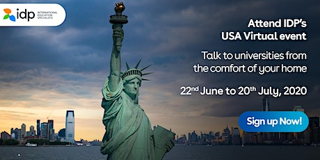 Attend IDP's  USA  Virtual Education Fair - 10th July 2020 in  Mangalore tickets