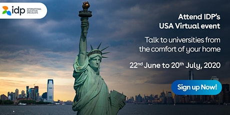 Attend IDP's  USA  Virtual Education Fair - 20th July 2020 in  Ahmedabad tickets