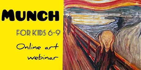 Edvard Munch for Kids 6-9 - Online Art Webinar tickets