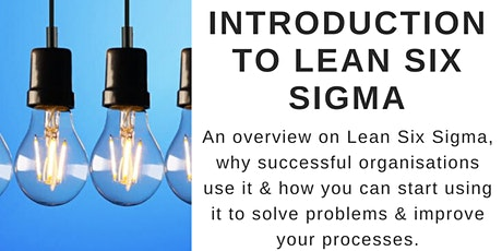 FREE WEBINAR: Introduction to Lean Six Sigma tickets