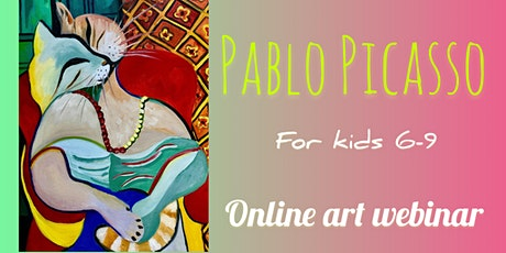 Picasso Style Painting for Kids 6-9 - Online Art Webinar tickets