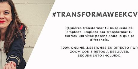 #transformaweekcv, primer evento en español sobre potenciación de cv entradas