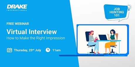 Job Hunting 101: The Virtual Interview – How To Make the Right Impression tickets
