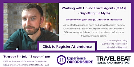 Working with Online Travel Agents (OTA's) – Dispelling the Myths tickets