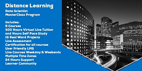 Live Instructor Led Distance Learning Data Science MasterClass Program tickets