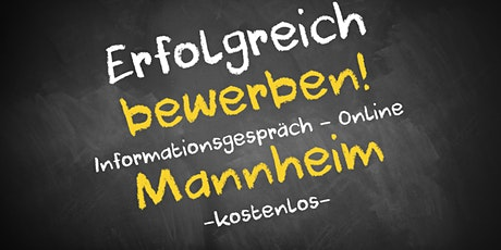 Bewerbungscoaching Online kostenfrei - Infos - AVGS Mannheim Tickets