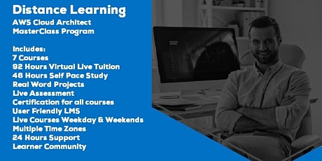 Live Instructor Led Distance Learning AWS Cloud Architect MasterClass tickets