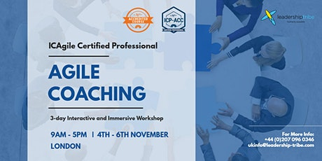 Agile Coaching (ICP-ACC) | London - November 2020 tickets
