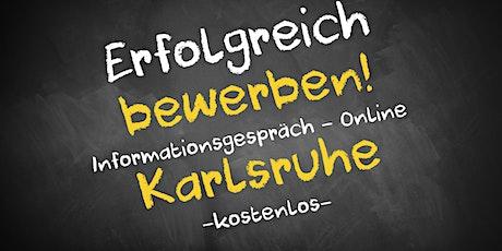 Bewerbungscoaching Infoveranstaltung - Online AVGS Karlsruhe Tickets