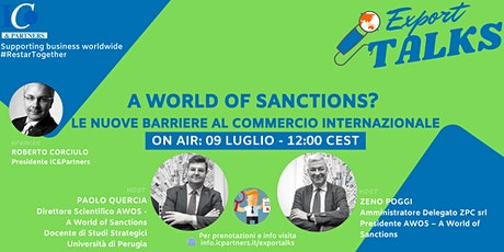 Export Talks - Focus Sanzioni Internazionali biglietti