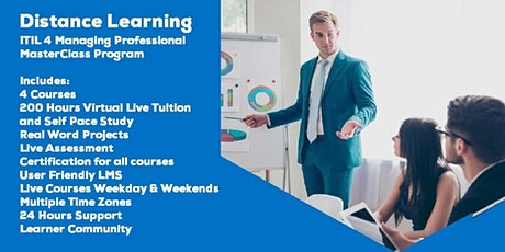 Live Distance Learning ITIL 4 Managing Professional  MasterClass tickets