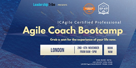 Agile Coach Bootcamp (ICP-ATF & ICP-ACC) | London - November 2020 tickets
