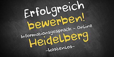 Bewerbungscoaching Online kostenfrei - Infos - AVGS Heidelberg Tickets