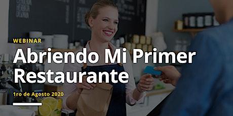 Webinar  Abriendo Mi Primer Restaurante tickets