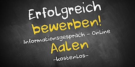 Bewerbungscoaching Online kostenfrei - Infos - AVGS Aalen Tickets