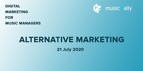 Digital Marketing For Music Managers: Alternative Marketing tickets