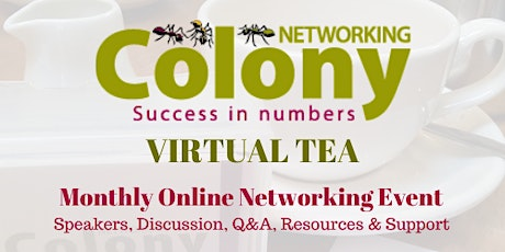 Colony Networking Virtual Tea - Cooking & Healthy Eating tickets