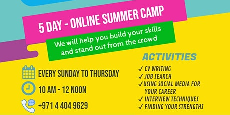 SUMMER EMPLOYABILITY CAMP FOR TEENAGERS AGE 15-18 tickets