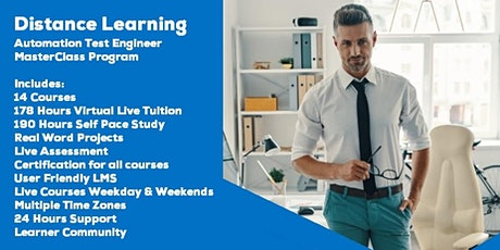Live Instructor Led Distance Learning Automation Test Engineer Program tickets