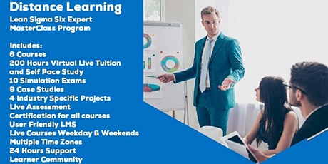 LIve Instructor Distance Learning Lean Sigma Six Expert Program Tickets
