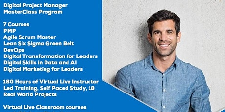 Live Instructor Led Distance Learning Digital Project Manager Program