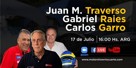 Traverso, Raies, Garro - Motor show Río Cuarto Edición Virtual 2020 entradas