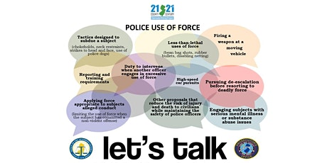 LET'S TALK POLICE USE OF FORCE - A Community Conversation tickets