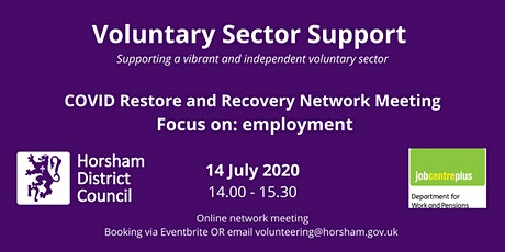 Voluntary Sector COVID Restore and Recovery networks – Focus on employment tickets