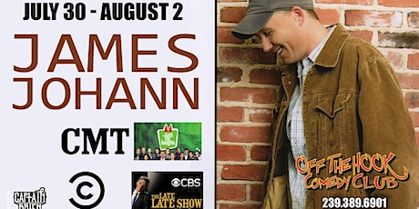 Comedian James Johann live  in Naples, FL at Off the Hook Comedy Club! tickets