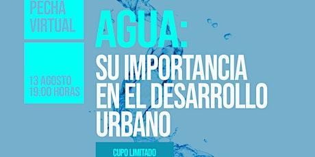 """Pecha virtual """"Agua: su importancia en el desarrollo urbano"""" entradas"""
