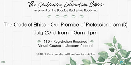 CE: The Code of Ethics - Our Promise of Professionalism (D) tickets