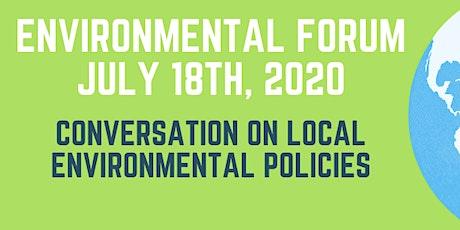 Conversation on Local Environmental Policies - Environmental Forum tickets