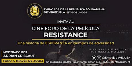 Cine Foro  de la Película: RESISTANCE entradas