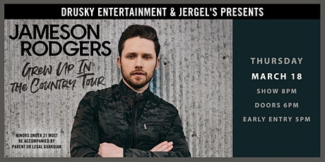 POSTPONED - Jameson Rodgers: Grew Up in the Country Tour tickets