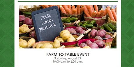 Farm to Table Event tickets