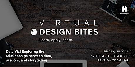 Design Bites   Data Viz! Relationships between Data, Wisdom, Storytelling tickets