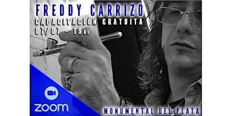 Capacitación gratuita online  Aerografía Principiantes con Freddy Carrizo entradas
