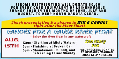 3rd Annual Canoes for a Cause Missouri River Float tickets