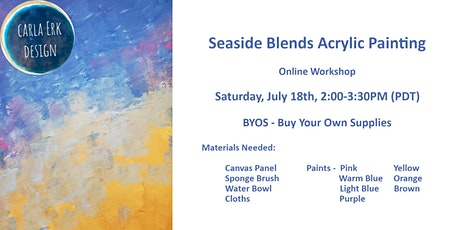 Seaside Blends Acrylic Painting ONLINE Workshop! tickets